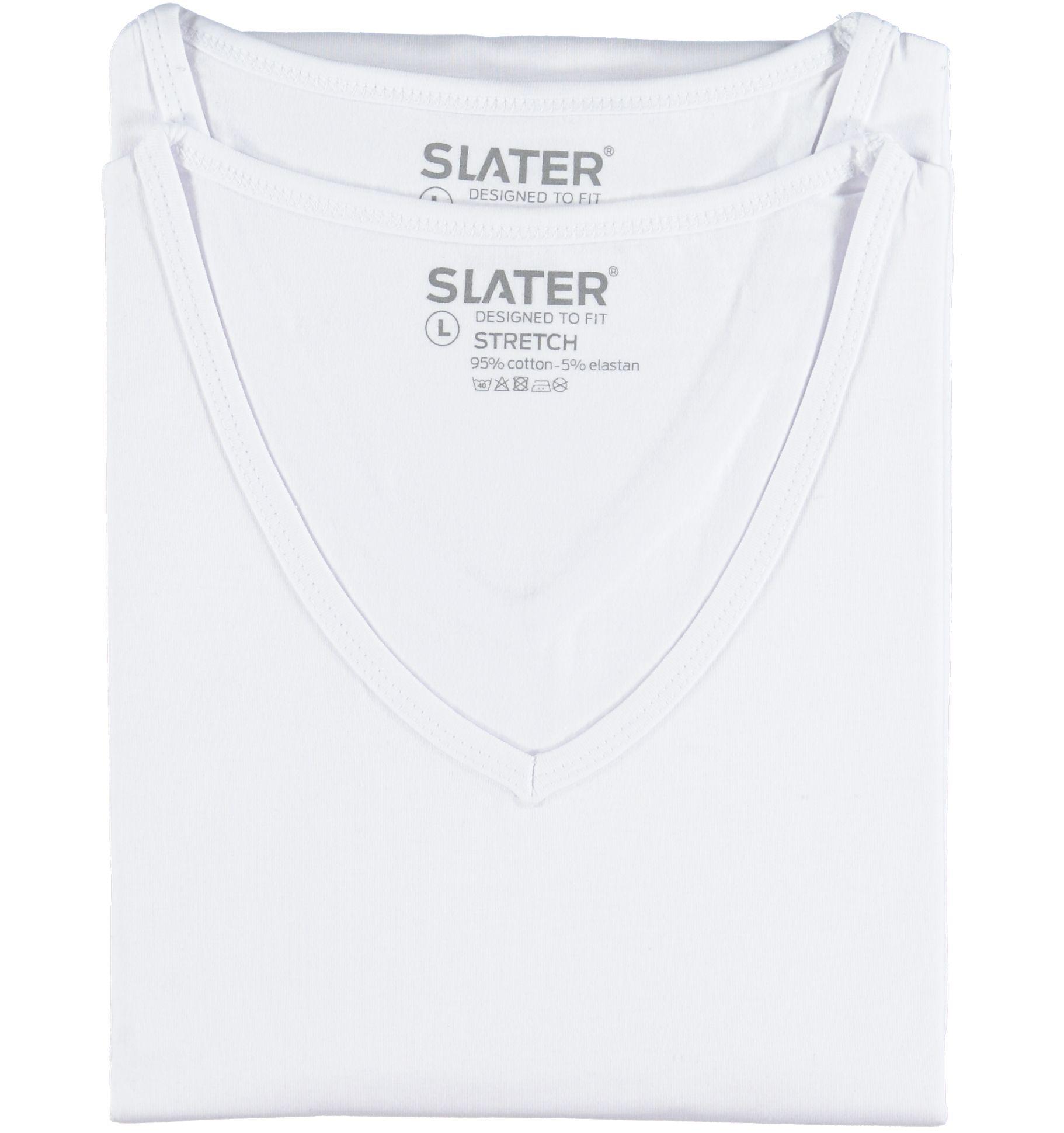 Slater heren T-shirts met V-hals 2stuks