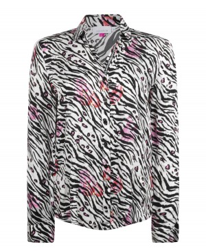 Just White dames blouse