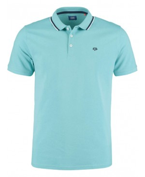 DNR Turquoise polo 2 voor 75