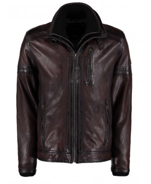DNR Red leather jacket
