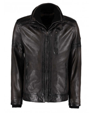 DNR Green leather jacket