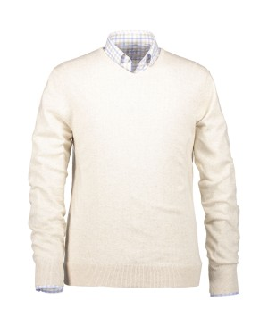 State of Art Pullover V-Neck Plai